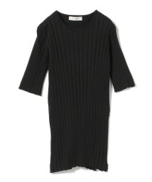 BEAMS OUTLET/Demi-Luxe BEAMS / ワイドリブ 5分袖ニット/501891893