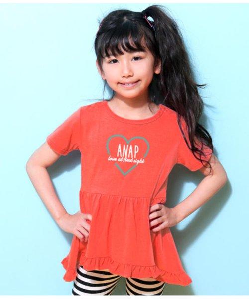 ANAP KIDS(アナップキッズ)/ハートロゴフリルチュニック/0437300007