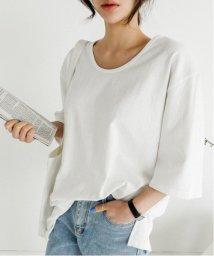 NANING9/NANING9(ナンニング)UネックメンズライクTシャツ/501970587