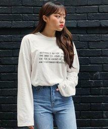 sonyunara/SONYUNARA(ソニョナラ)英字メッセージ長袖Tシャツ/501970591