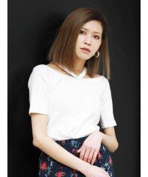 EMODA/WストラップフィットTシャツ/501971756