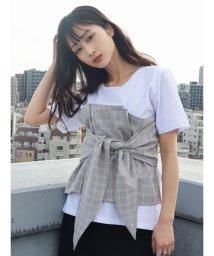 EMODA/ビスチェドッキングTシャツ/501971758