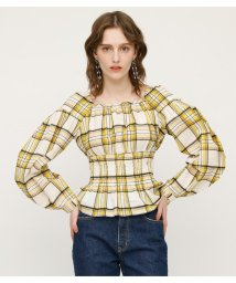SLY/PAIGE CHECK SQUARE TOPS/501971845