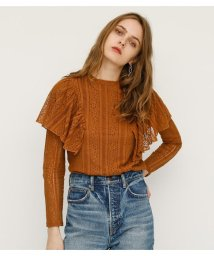 SLY/【TVドラマ着用】RUFFLE LACE STAND TOPS/501971867