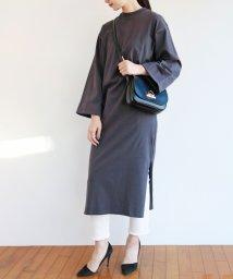 and Me.../【G-4】コットン 長袖 Tシャツワンピース ワイド袖 /501972173