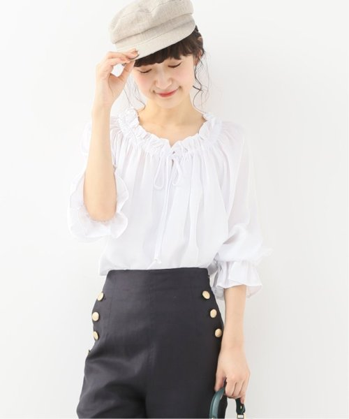 Spick & Span(スピック&スパン)/【SECULAR】 RUFFLE NECK TIE BLOUSE/19051210003210