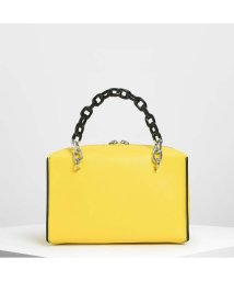 CHARLES & KEITH/【2019 SUMMER 新作】ダブルチェーン ハンドルバッグ /Double Chain Handle Bag (Yellow)/501977864