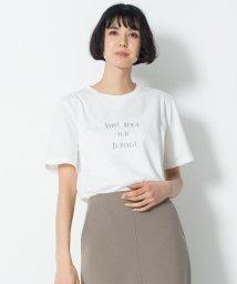 NIJYUSANKU/【マガジン掲載】MESSAGE PRINT TEE カットソー(検索番号H44)/501978174