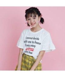 ALGY/フリルスリーブTシャツ/501588795