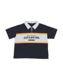ALGY/ニコ☆プチ4月号掲載   ニコプチコラボリングジップ衿付きTシャツ/501588805