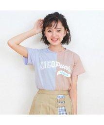 ALGY/ニコ☆プチ4月号掲載   ニコプチコラボバイカラーリメイク風Tシャツ/501588806