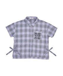 ALGY/ニコ☆プチ4月号掲載   チェック半袖シャツ/501588823
