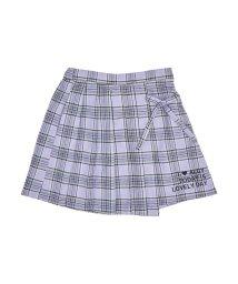 ALGY/ニコ☆プチ4月号掲載   チェックアシメプリーツスカート/501588852