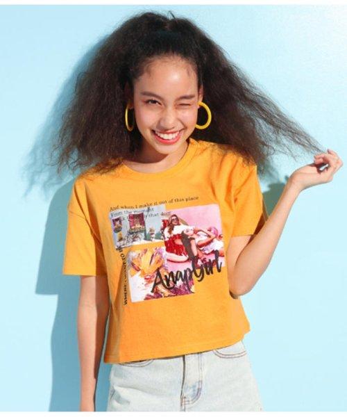 ANAP GiRL(アナップガール)/キュートカラーフォトクロップドTシャツ/2039300019