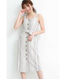 PROPORTION BODY DRESSING/◆《EDIT COLOGNE》ストライプタイトジャンパースカート/501978580