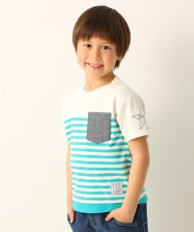 3can4on(Kids)/ポケット付きレイヤードTシャツ/501978832