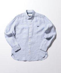 NOLLEY'S goodman/【新色追加】クジラ刺繍リネンボタンダウンシャツ/501935217