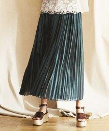 LANVIN en Bleu/シャイニープリーツスカート/501935972