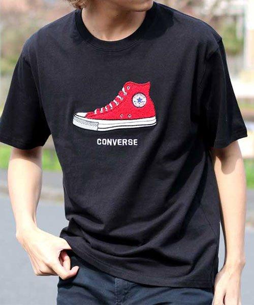 MARUKAWA(マルカワ)/【CONVERSE】コンバース シューズサガラ刺繍 半袖Tシャツ/0112280939