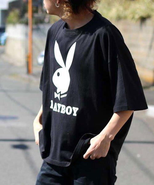MARUKAWA(マルカワ)/【別注】【PLAYBOY】プレイボーイ ビッグシルエット アイコンロゴ 半袖Tシャツ/0112280947