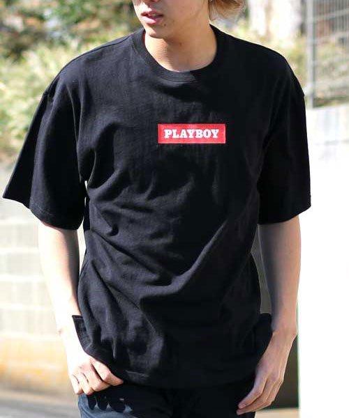 MARUKAWA(マルカワ)/【PLAYBOY】プレイボーイ ビッグシルエット ボックスロゴ 半袖Tシャツ/0112280952