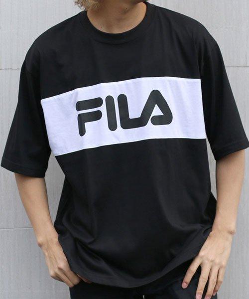 MARUKAWA(マルカワ)/【FILA】フィラ 切り替え ロゴ 半袖Tシャツ/0113060077