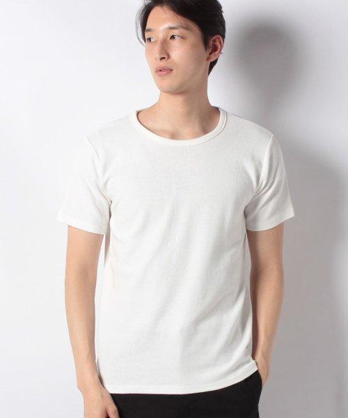 JNSJNM(ジーンズメイト メンズ)/【BLUE STANDARD】ミニワッフルクルーネックTシャツ/205297030