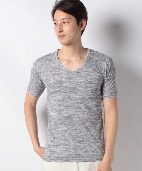 JNSJNM(ジーンズメイト メンズ)/【BLUE STANDARD】ヒキソロエモクVネックTシャツ/205297033