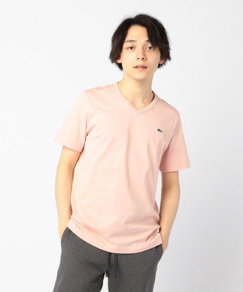 GLOSTER(GLOSTER)/【LACOSTE/ラコステ】VネックTシャツ #TH632EM/9-0670-2-53-001