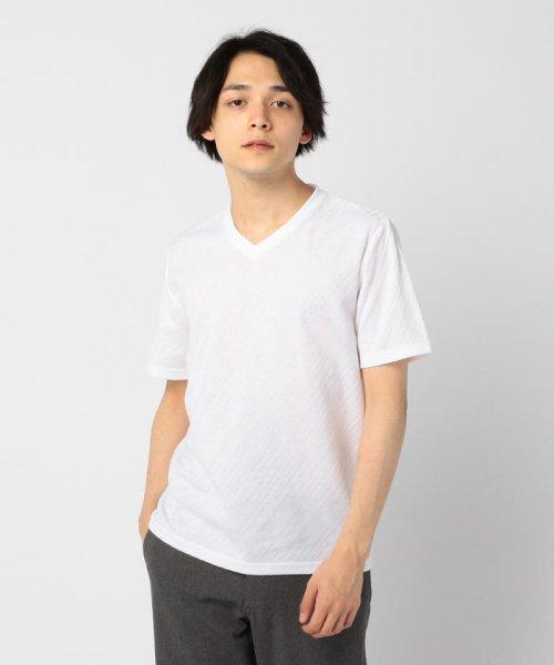 GLOSTER(GLOSTER)/バイアスリンクスTシャツ/9-0692-2-53-001