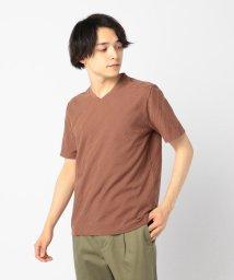 GLOSTER/バイアスリンクスTシャツ/501964704