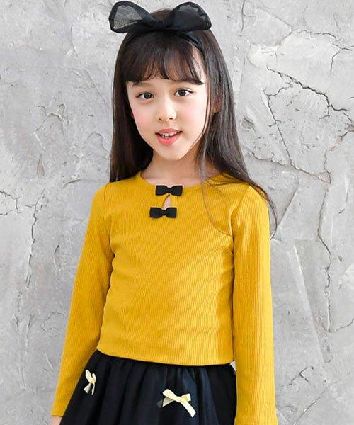 子供服Bee(子供服Bee)/リボン付リブカットソー/taa05209