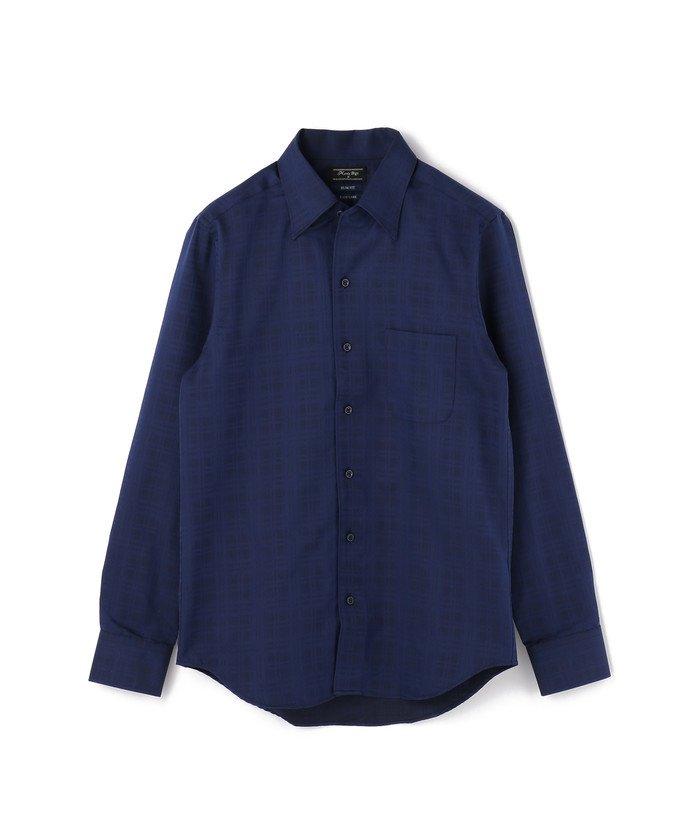 メンズビギドレスシャツ(ワイシャツ)ビジネス&パーティーメンズネイビーM【Men's Bigi】