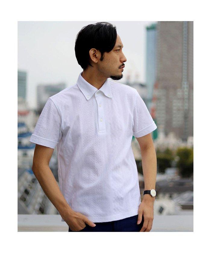 メンズビギ リンクス柄ポロシャツ メンズ ホワイト S 【Men's Bigi】