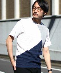 UNION STATION/ニットジョイントパネル切り替えTシャツ/501976731
