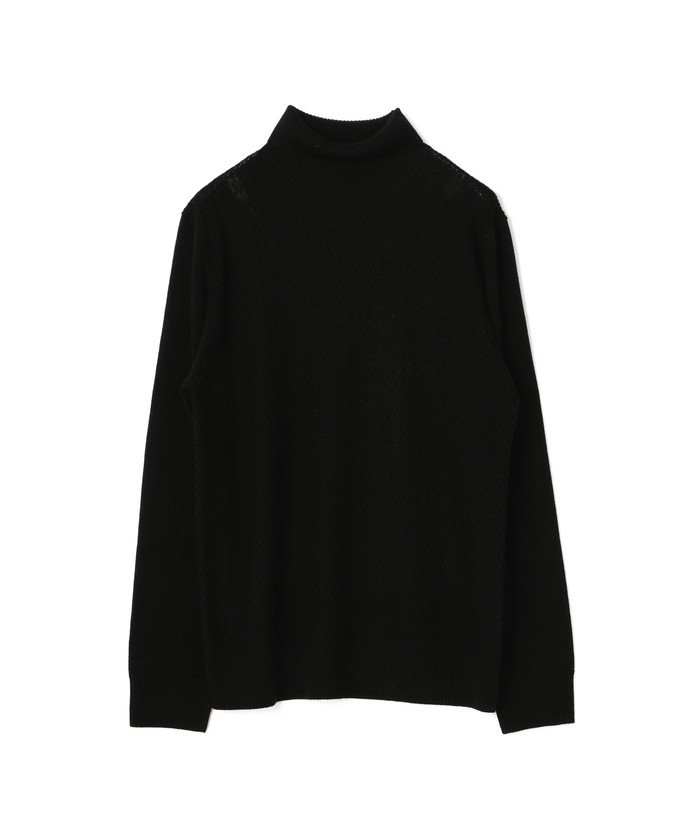【50%OFF】 メンズビギ へリンボーンタートルネックセーター メンズ ブラック S 【Men's Bigi】 【セール開催中】