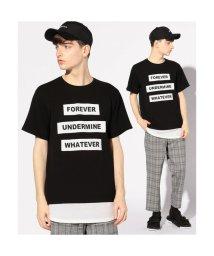 UNION STATION/フェイクレイヤードロゴパッチTシャツ/501977629