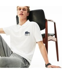 LACOSTE Mens/3Dロゴプリント鹿の子地ポロ/501979347