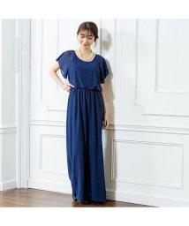 GROWINGRICH/[ドレス オールインワン]一枚でエレガントなスタイルに シフォンオールインワン[190107]/501980925