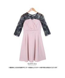 GROWINGRICH/[ドレス]漂うリュクスな雰囲気 シアーレースドッキングドレスワンピース[190113]/501980928