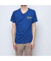 GUESS/ゲス GUESS SOUNDCHECK TRIANGLE LOGO TEE (BLUE MAYA)/501982409