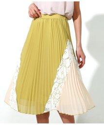 Alluge/配色デザインプリーツスカート/501941107