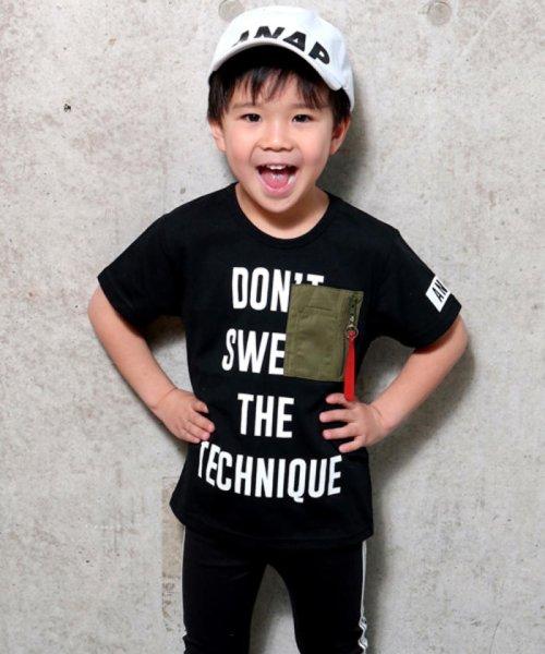 ANAP KIDS(アナップキッズ)/ミリタリーポケットTシャツ/0437800018
