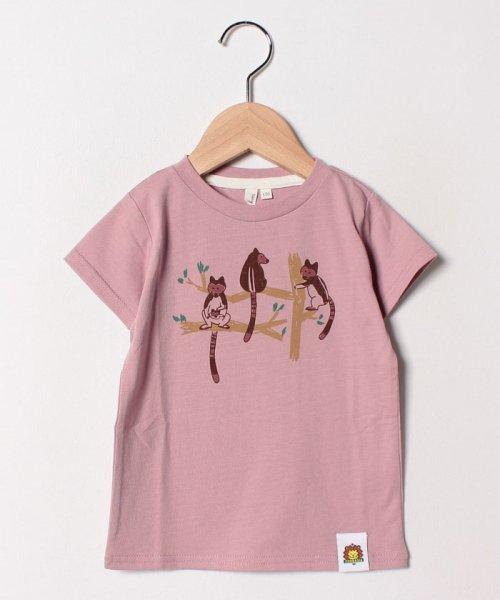 LAGOM(ラーゴム)/[ズーラシアコラボ]セスジキノボリカンガルーTシャツ/1207593211411