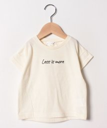 b-ROOM/肩落ちロゴ刺しゅうTシャツ/501969697
