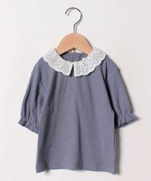 b-ROOM/襟付きパフTシャツ/501969698