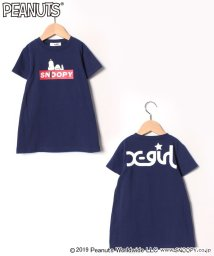 X-girl Stages/PEANUTSコラボ ボックスロゴスヌーピーTシャツ/501969752