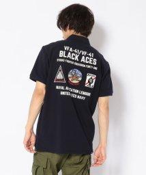 AVIREX/【WEB&DEPOT限定】ブラックエースポロ/BLACK ACES POLO/501982905