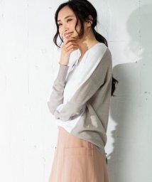 iCB/【洗える】Pure Linen Vネック ニット/501983499