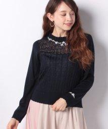 axes femme/お花刺繍ニットプルオーバー/501914185
